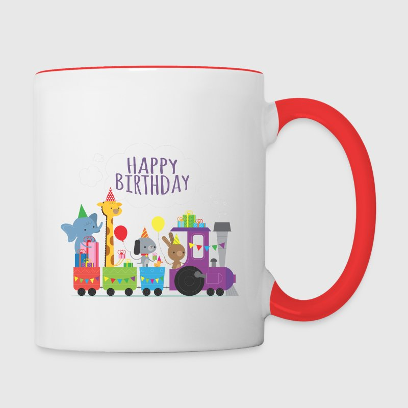 Animal Train Birthday Mugs & Drinkware - Contrast Coffee Mug