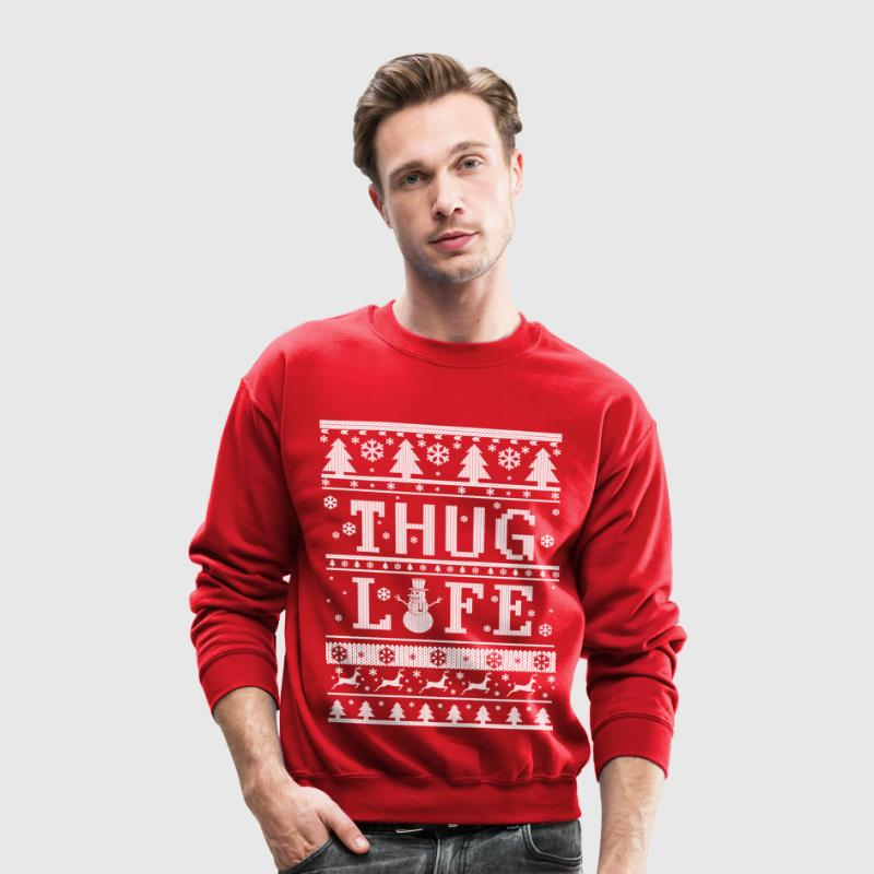 Thug Life Ugly Christmas Long Sleeve Shirts - Crewneck Sweatshirt
