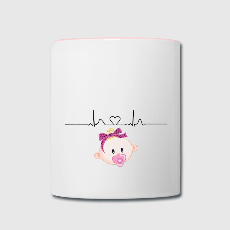 BABY GIRL MATERNITY Mugs & Drinkware - Contrast Coffee Mug