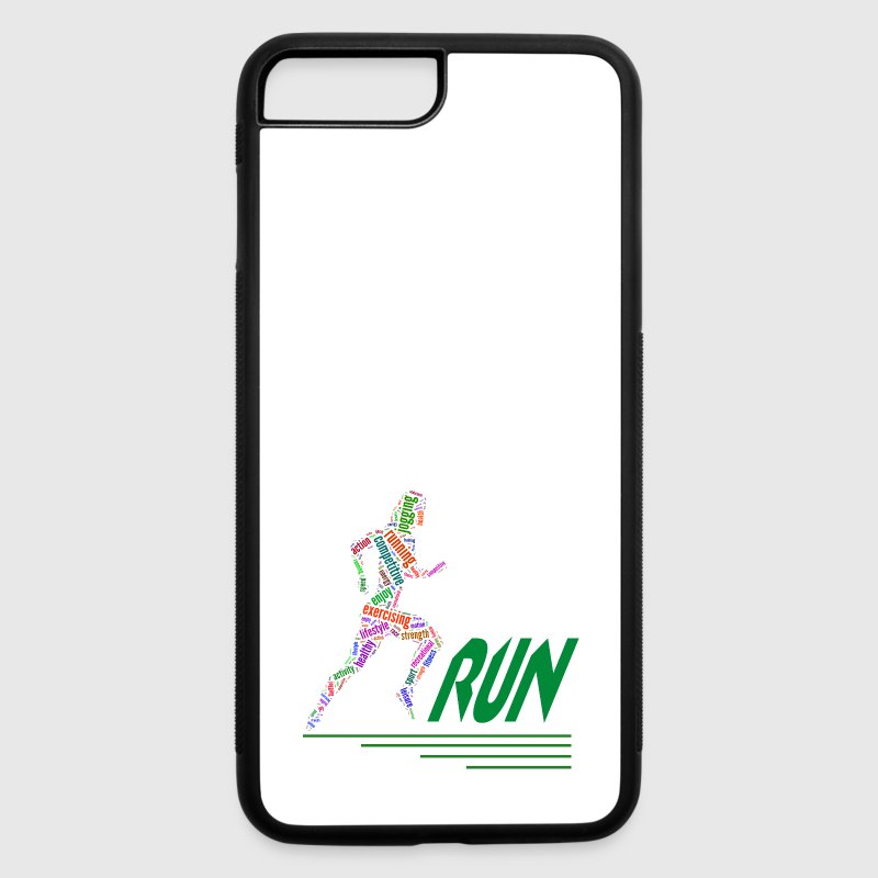 Running girl Phone & Tablet Cases - iPhone 7 Plus/8 Plus Rubber Case