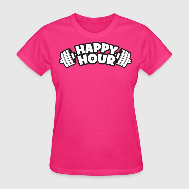 Happy hour barbell t shirt spreadshirt for One hour t shirts