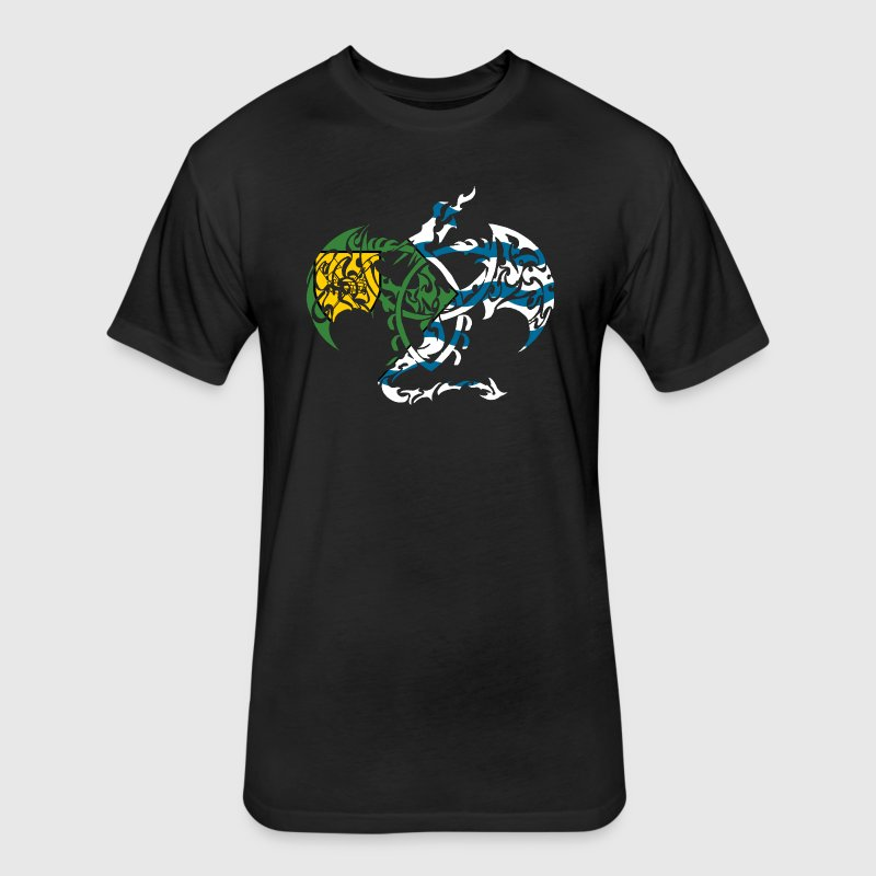VANCOUVER BC FLAG DRAGON T-Shirts - Fitted Cotton/Poly T-Shirt by Next Level