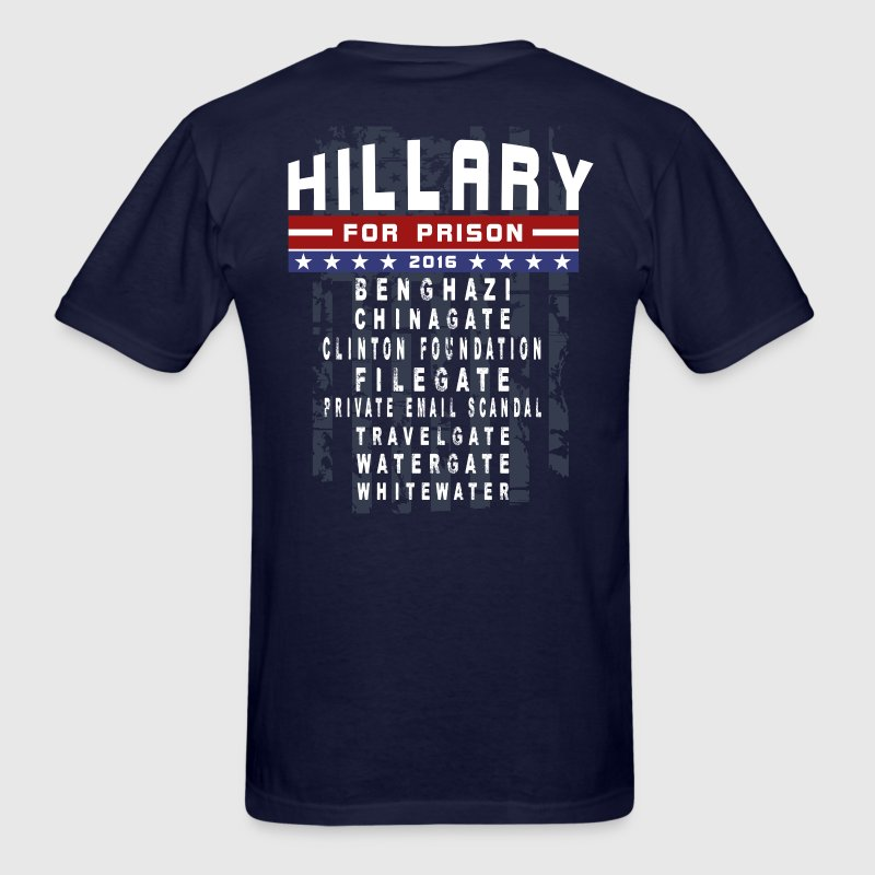 Hillary For Prison T-Shirts - Men's T-Shirt