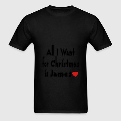 ↷♥All I want for Christmas is James Tote♥↶ - Men's T-Shirt
