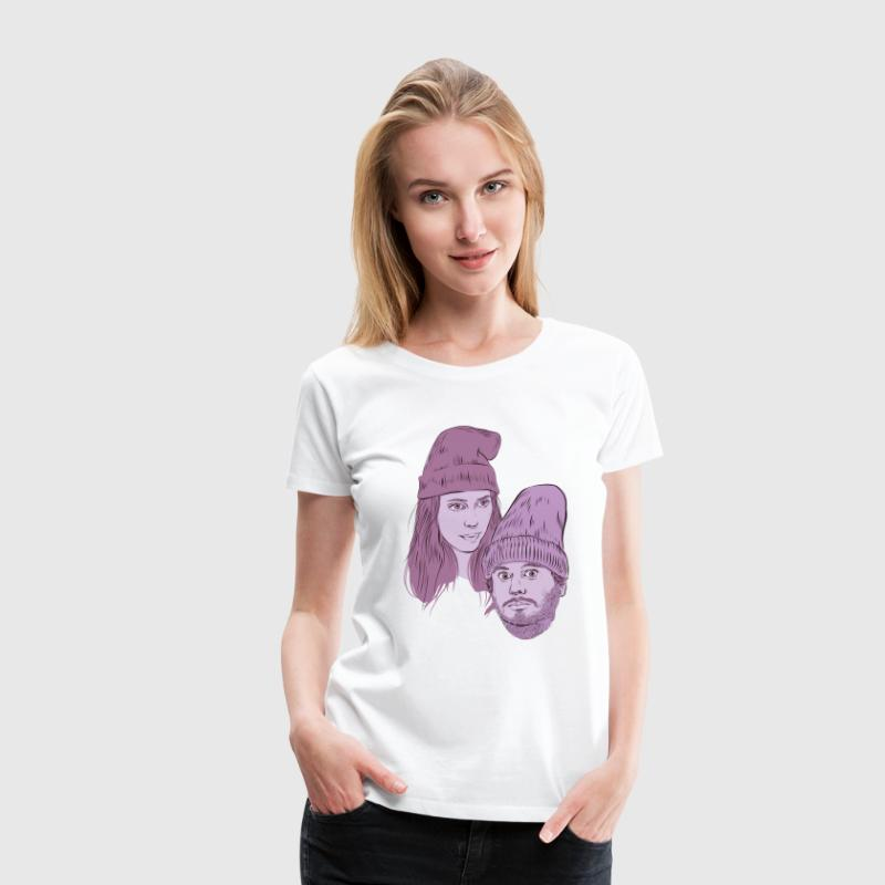 Hila and Ethan from h3h3productions T-Shirts - Women's Premium T-Shirt