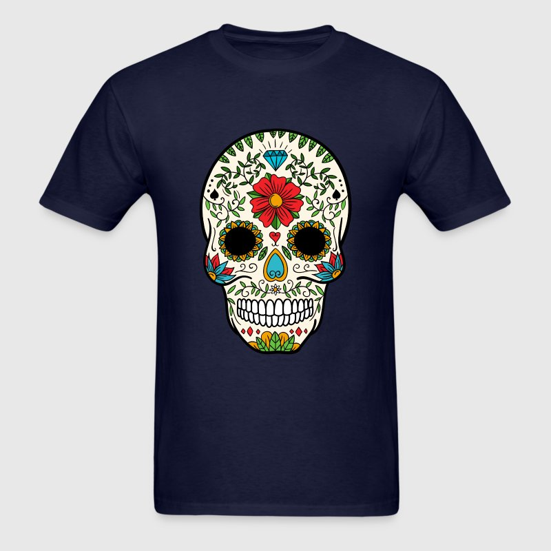 Sugar Skull - Day of the Dead #8 T-Shirts - Men's T-Shirt