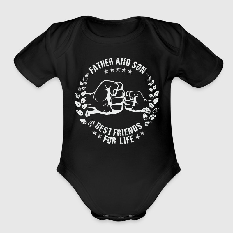 FATHER AND SON BEST FRIENDS FOR LIFE Baby Bodysuits - Short Sleeve Baby Bodysuit