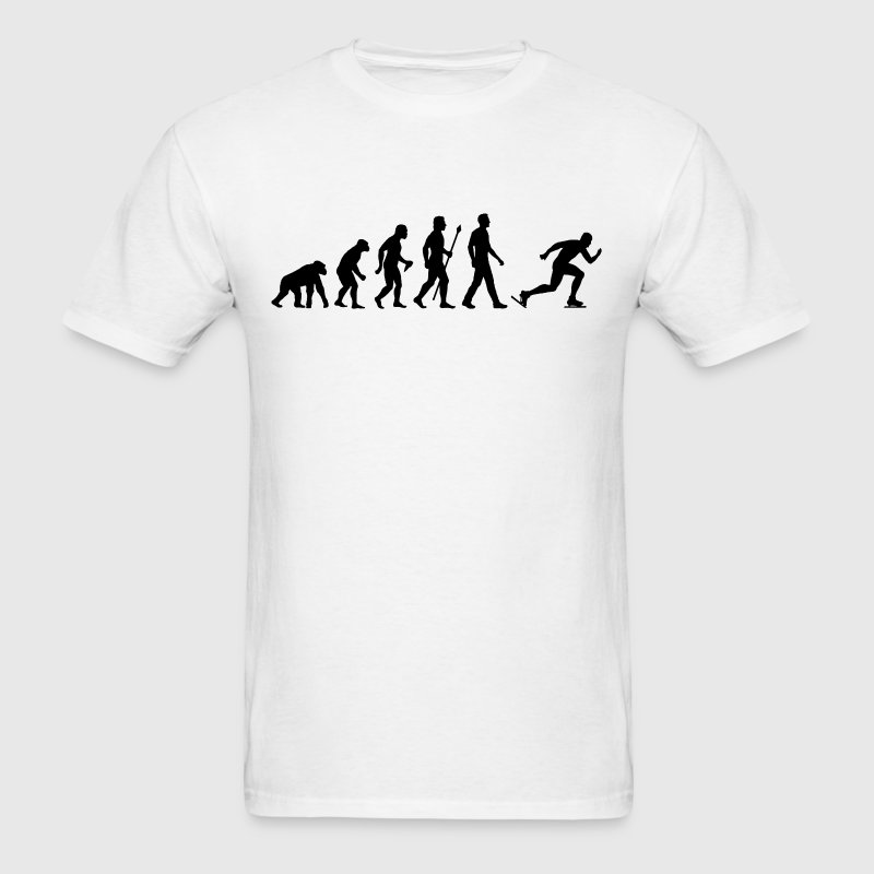 Evolution Of Speed Skating - Men's T-Shirt