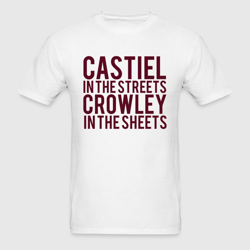 SUPERNATURAL CASTIEL In The Streets CROWLEY... T-Shirts - Men's T-Shirt