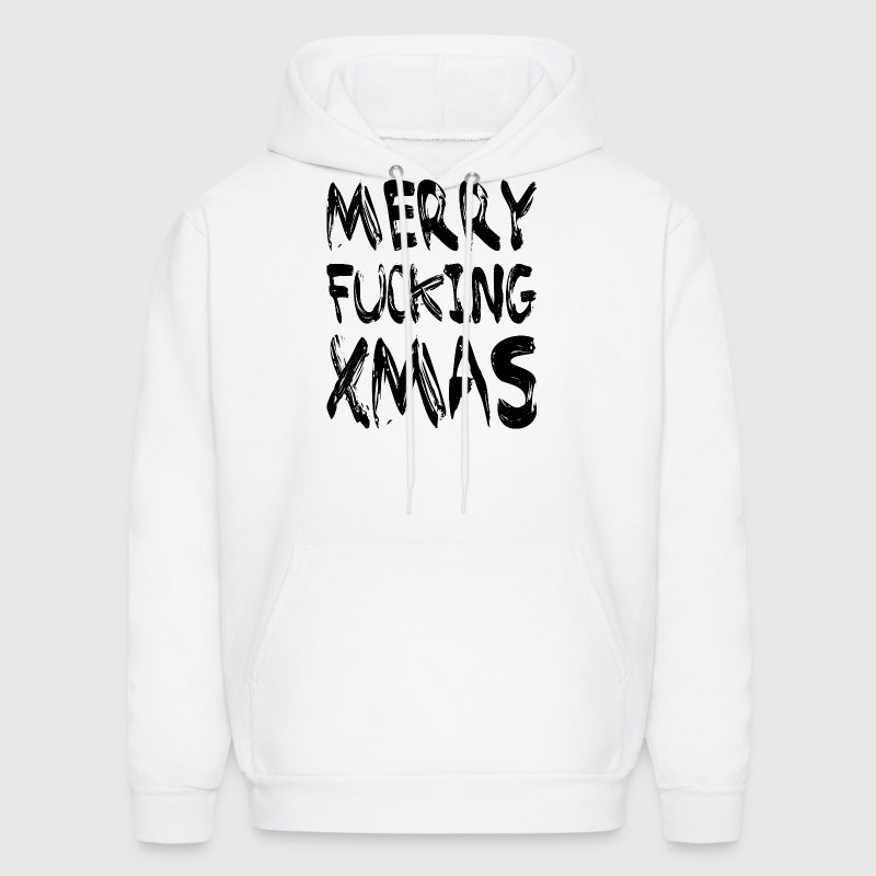 MERRY FUCKING XMAS Hoodies - Men's Hoodie
