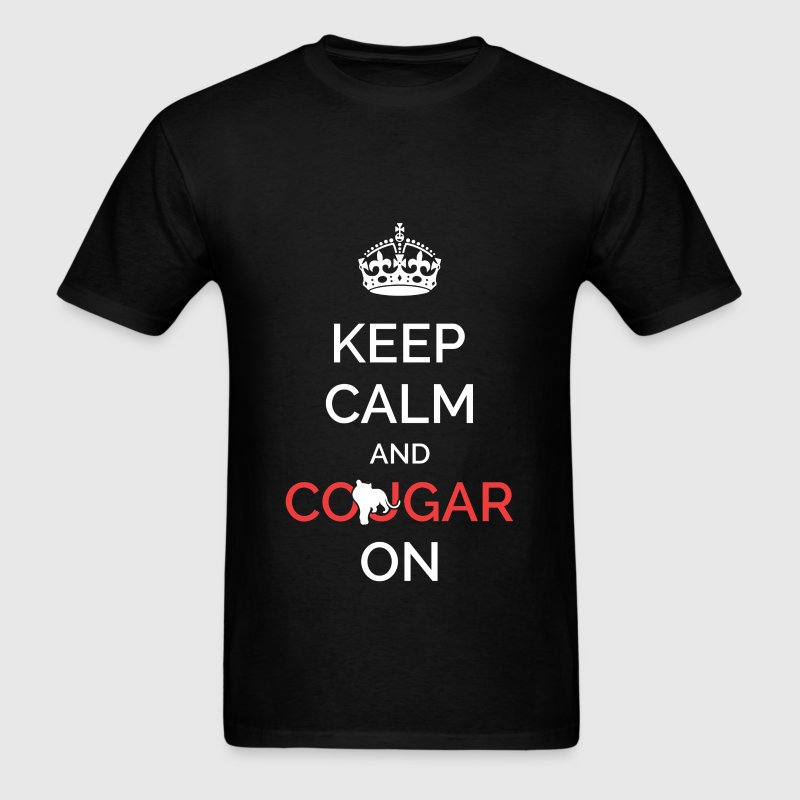 Keep calm and cougar on - Men's T-Shirt