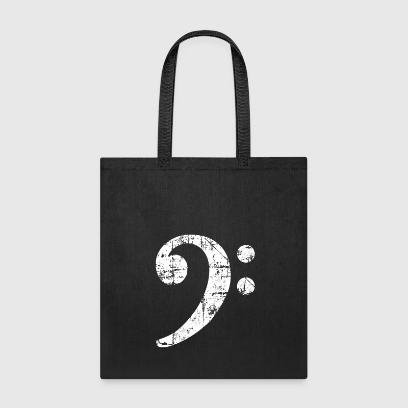 Bass Clef (Vintage/White)  Bags & backpacks - Tote Bag