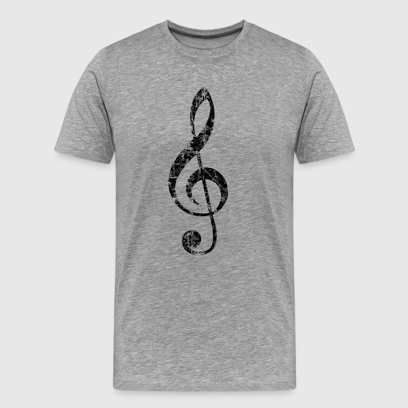 Treble Clef (Vintage/Black) S-5X T-Shirt - Men's Premium T-Shirt