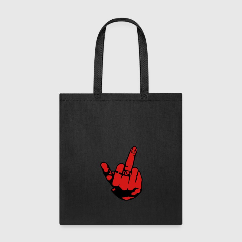 Middle finger woman ring Bags & backpacks - Tote Bag