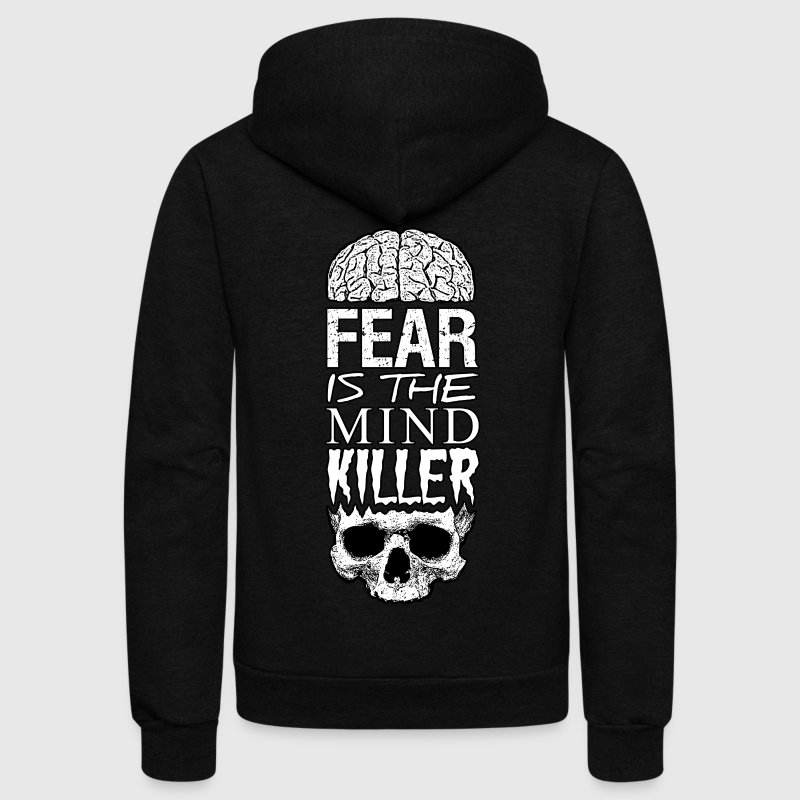 Fear Is The Mind Killer - Unisex Fleece Zip Hoodie by American Apparel