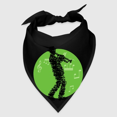 trumpet player made of notes_09201602 Accessories - Bandana