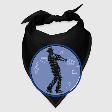 trumpet player made of notes_09201603 Accessories - Bandana