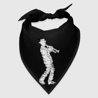 trumpet player made of notes_09201601 Accessories - Bandana
