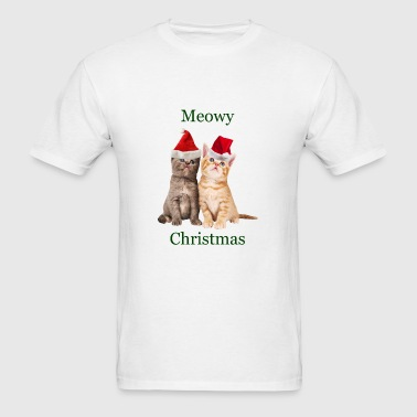 Meowy Christmas Kitten Travel Mug - Men's T-Shirt