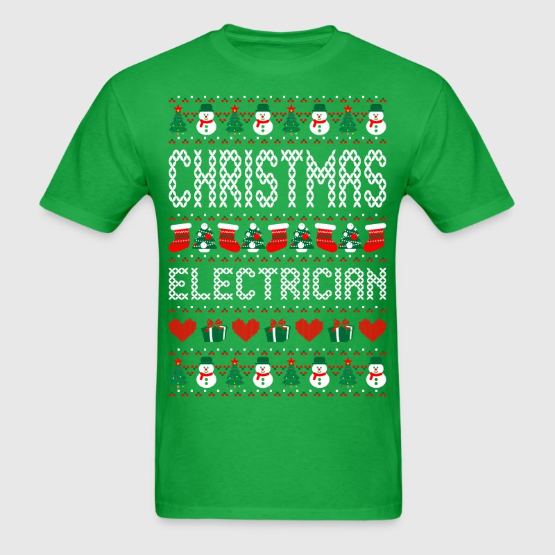 Christmas Electrician Ugly Christmas Sweater T-Shirts - Men's T-Shirt