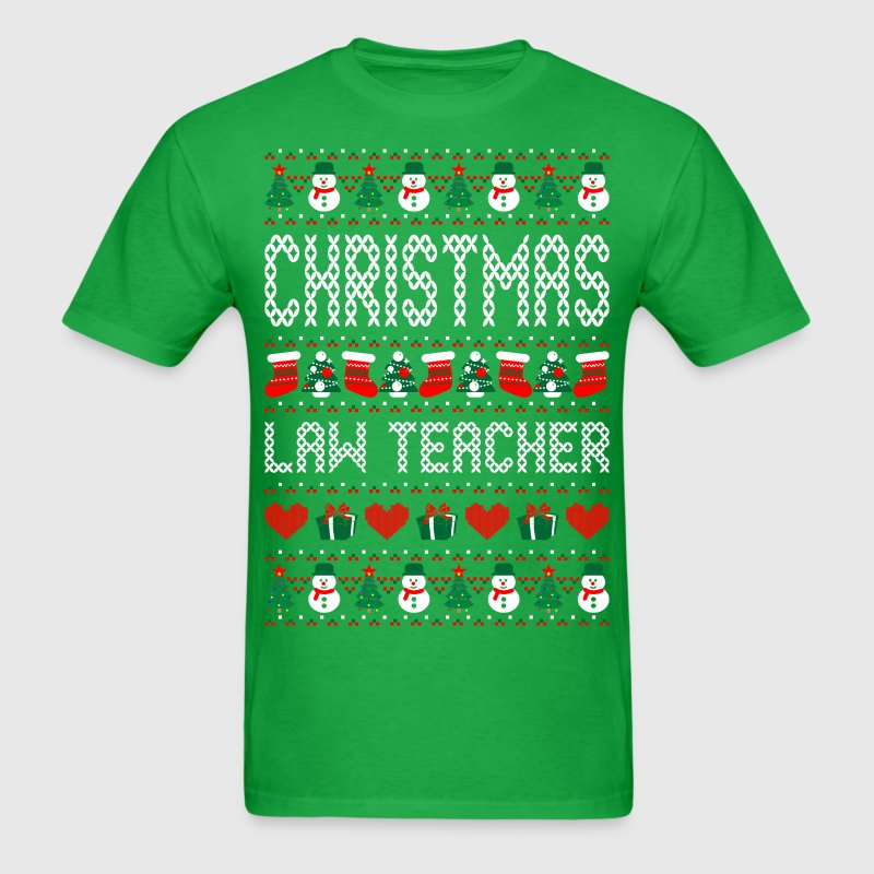 Christmas Law Teacher Ugly Christmas Sweater T-Shirts - Men's T-Shirt