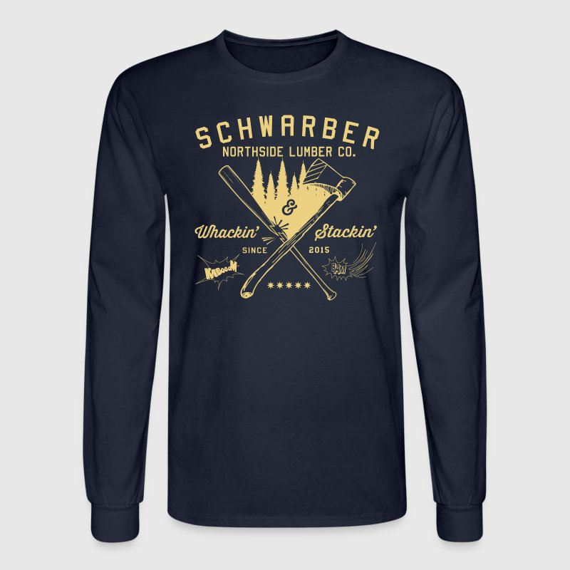 Schwarber Lumber Co_cream - Men's Long Sleeve T-Shirt