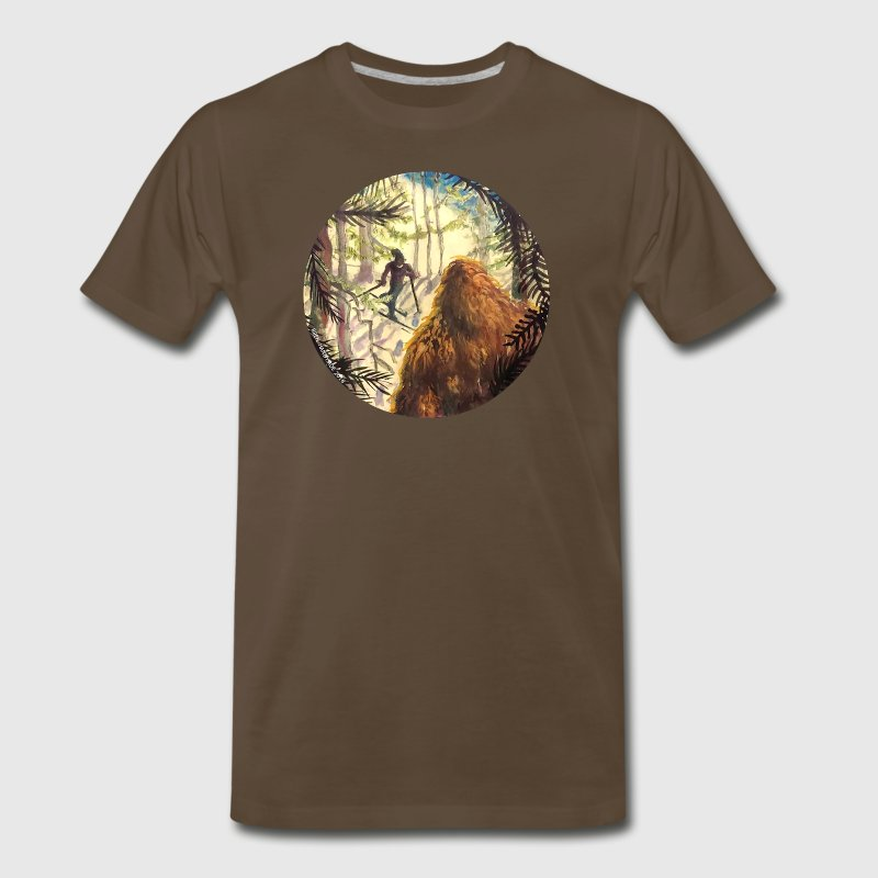 Woodland Watcher Bigfoot T-Shirts - Men's Premium T-Shirt