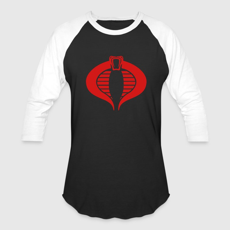 Black Cobra Commander T-Shirt - Baseball T-Shirt
