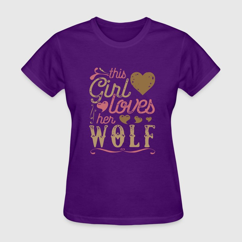 This Girl Loves Her Wolf - Wolf Gift T-Shirts - Women's T-Shirt