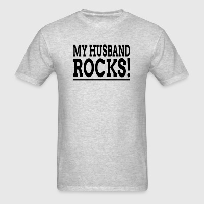 MY HUSBAND ROCKS! Sportswear - Men's T-Shirt
