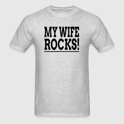MY WIFE ROCKS! Sportswear - Men's T-Shirt
