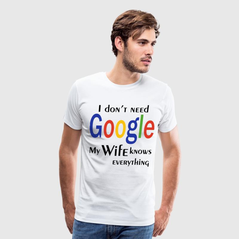 i don't need google 2 - Men's Premium T-Shirt