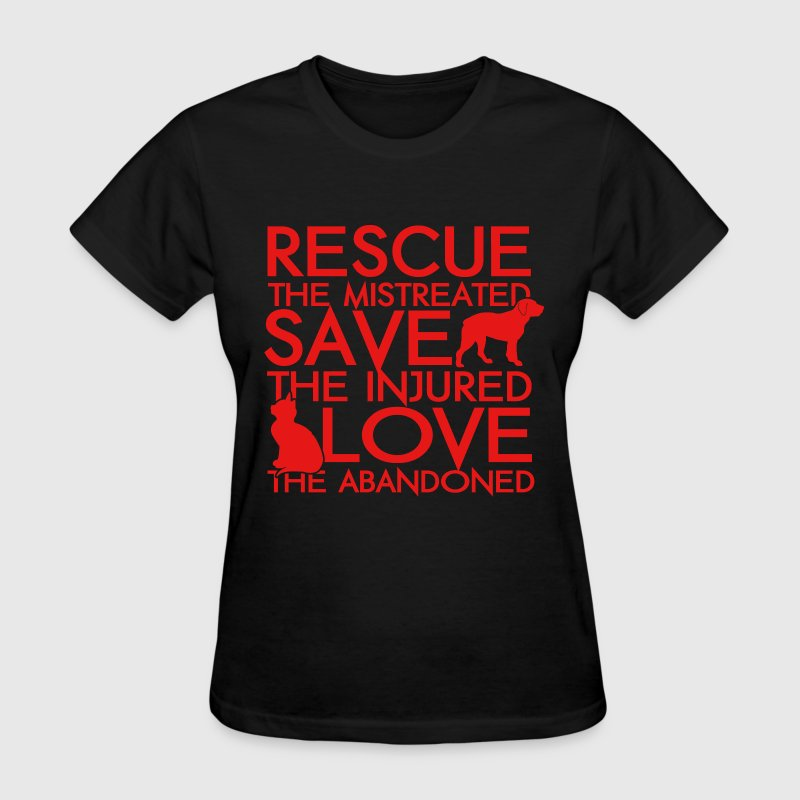Pet rescuer - Save the injured love the abandoned - Women's T-Shirt