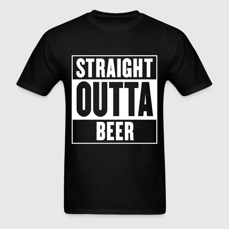 Straight outta beer - Straight outta compton - Men's T-Shirt