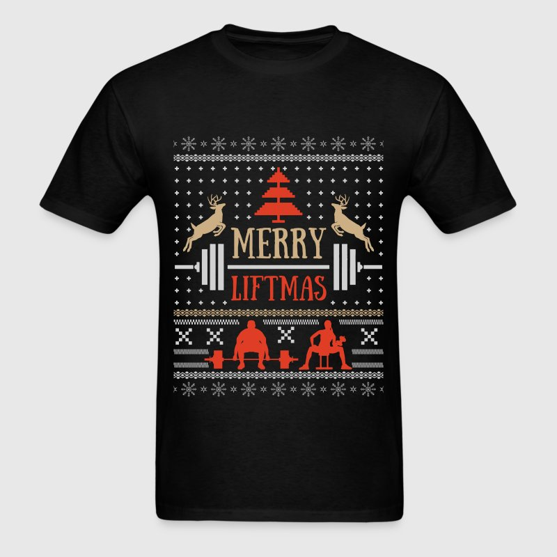Weightlifting Christmas - Merry Liftmas - Men's T-Shirt