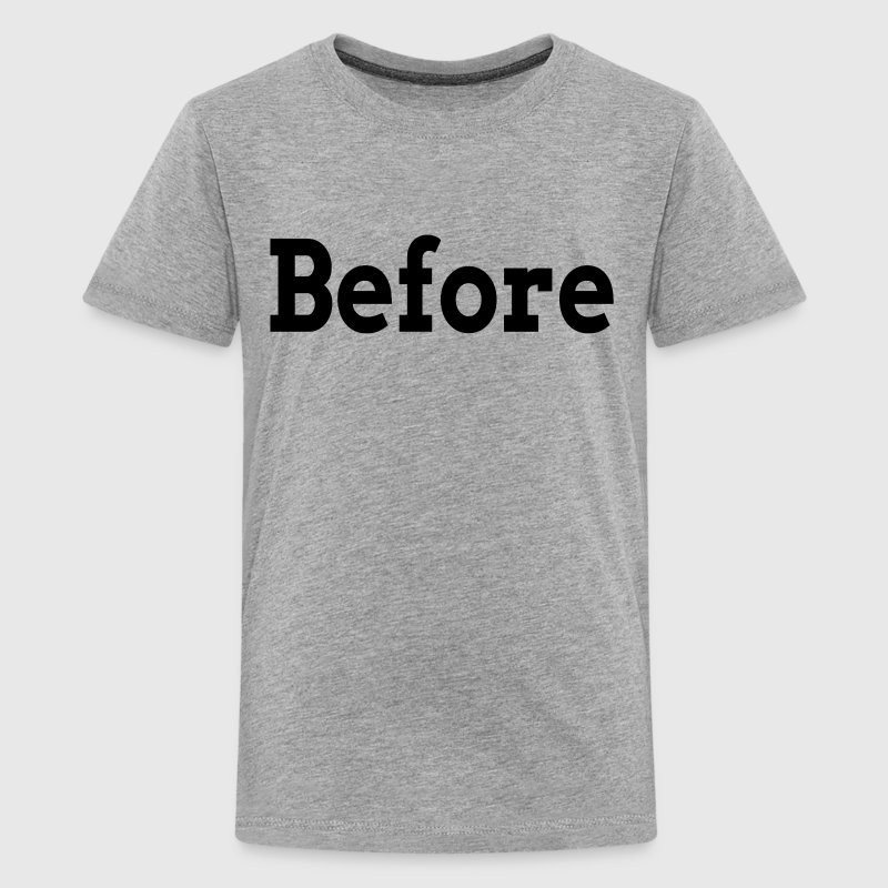 BEFORE AFTER TRANSFORMATION FAMILY GYM WORKOUT Kids' Shirts - Kids' Premium T-Shirt