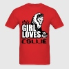 This Girl Loves Her Border Collie T-Shirts - Men's T-Shirt