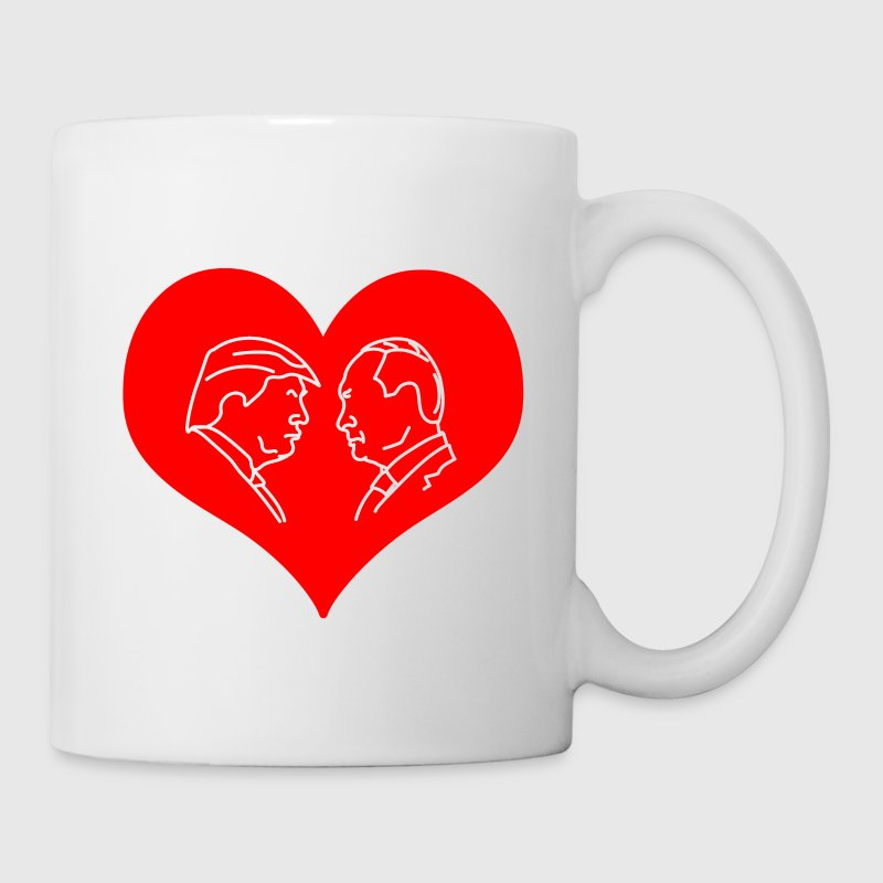Trump Putin Red Heart Mugs & Drinkware - Coffee/Tea Mug