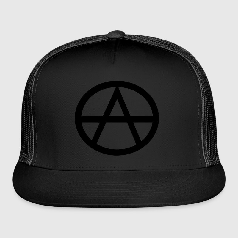 Black Anarchist Hat - Trucker Cap