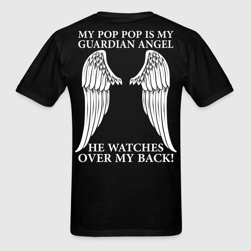 My Pop Pop Is My Guardian Angel T-Shirts - Men's T-Shirt