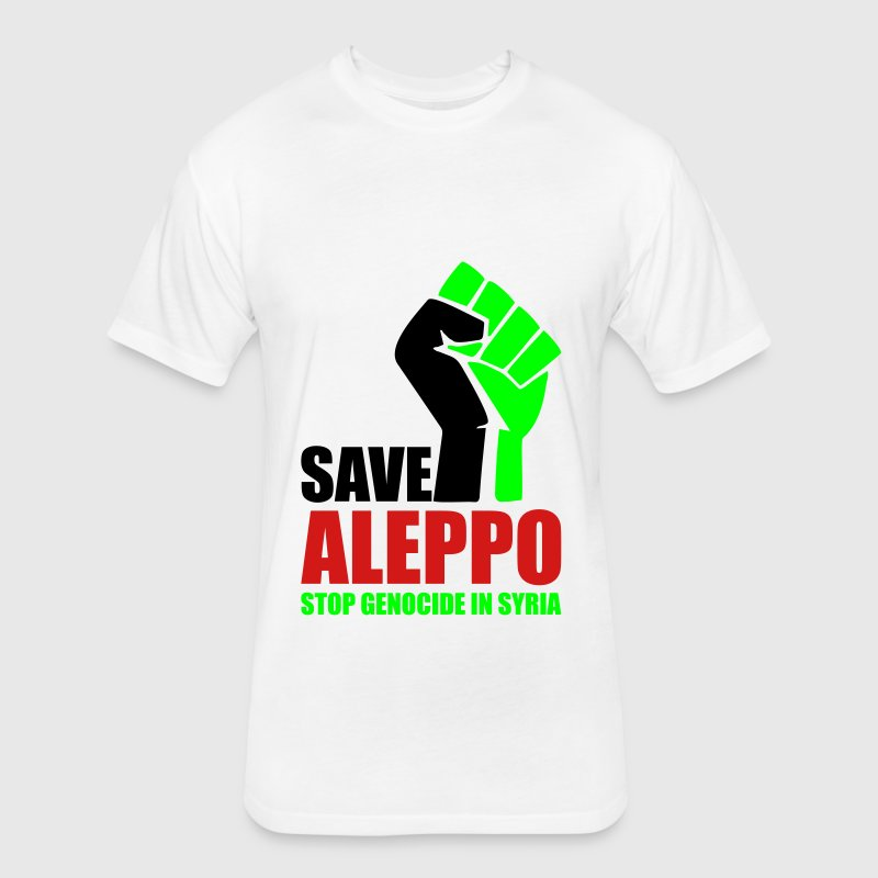 SAVE ALEPPO T-Shirts - Fitted Cotton/Poly T-Shirt by Next Level