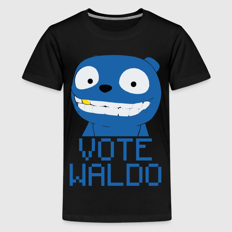 Vote Waldo – Black Mirror Kids' Shirts - Kids' Premium T-Shirt