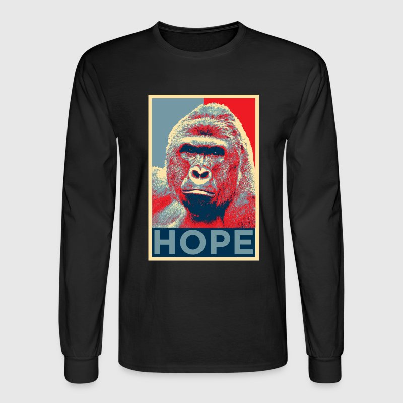 Harambe hope sweatshirt male - Men's Long Sleeve T-Shirt
