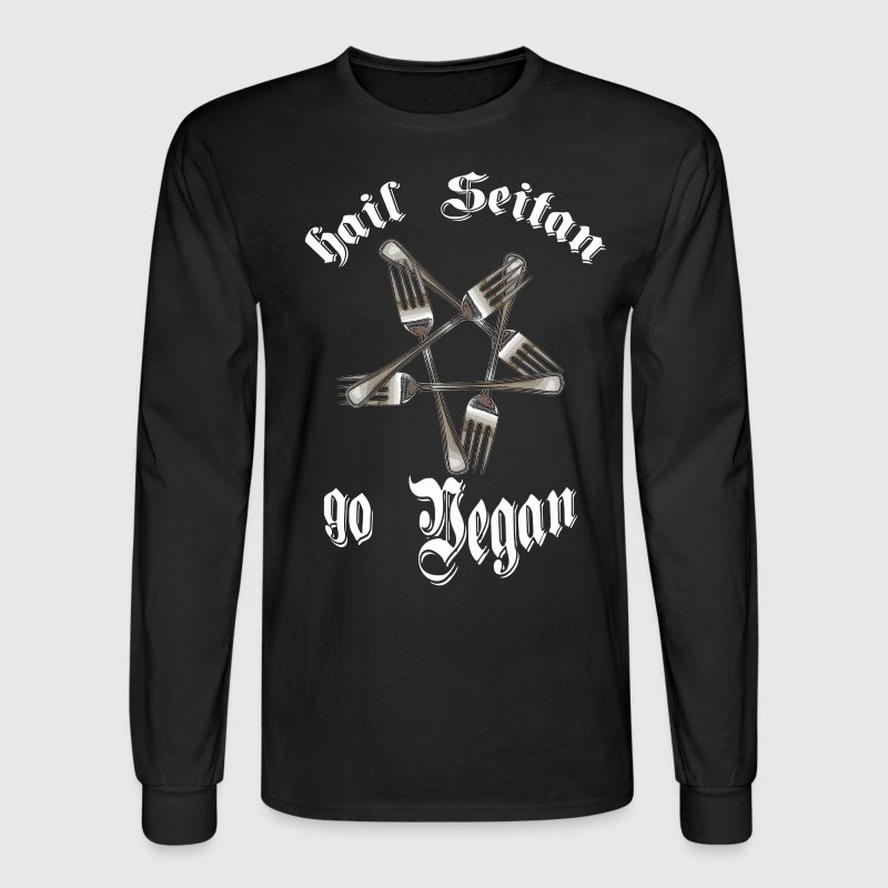 HAIL SEITAN GO VEGAN - Men's Long Sleeve T-Shirt