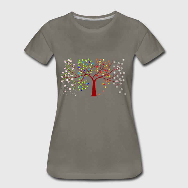 four seasons tree - Women's Premium T-Shirt
