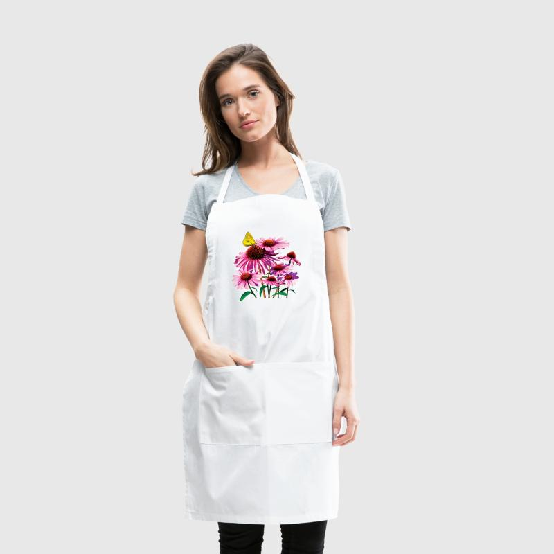 Yellow Sulphur Butterfly On Coneflower Aprons - Adjustable Apron