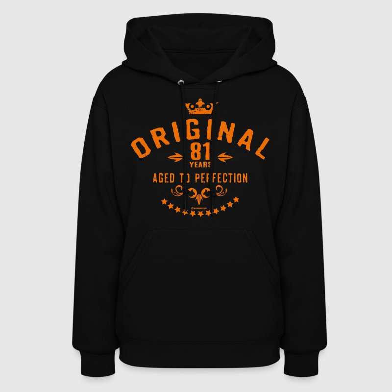 Original 81 years aged to perfection - RAHMENLOS birthday gift Hoodies - Women's Hoodie