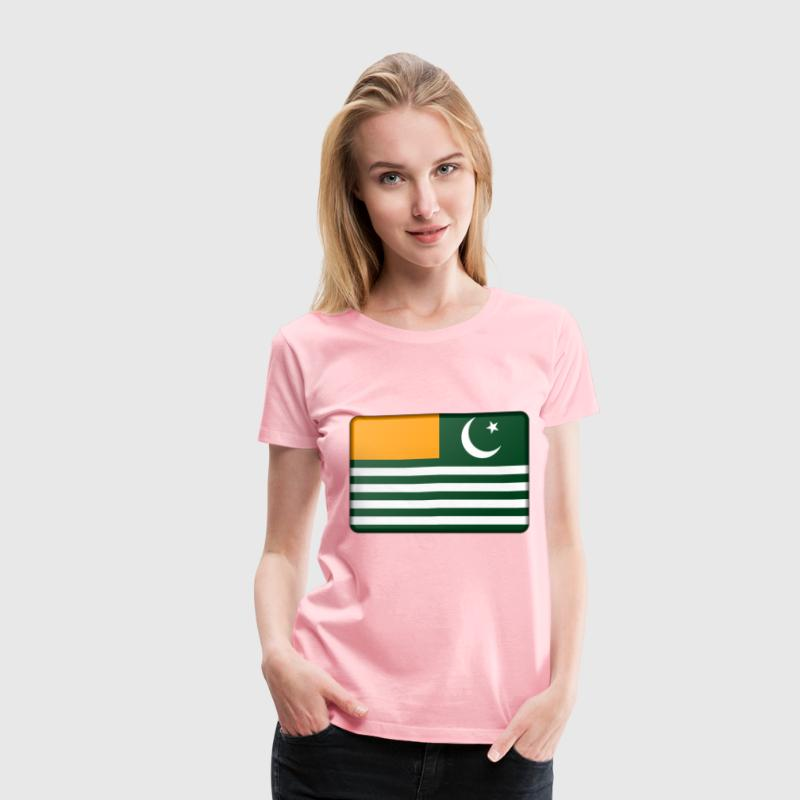 Flag of Azad Kashmir (bevelled) - Women's Premium T-Shirt