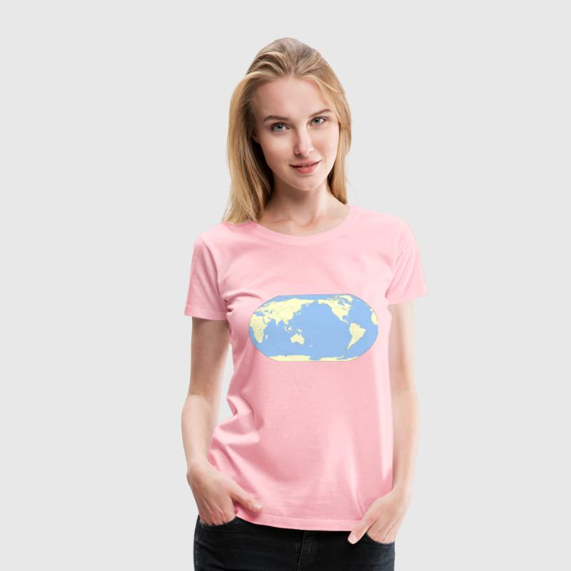 World Map Japan POV colour - Women's Premium T-Shirt