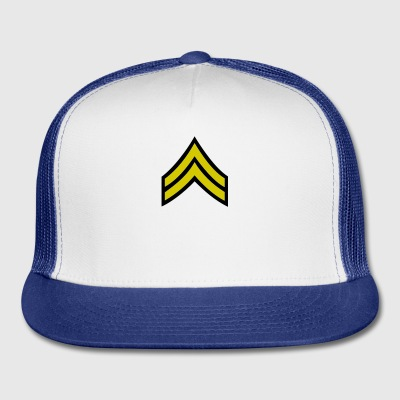 army military button rank CORPORAL - Trucker Cap
